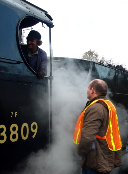 Steam rail workers